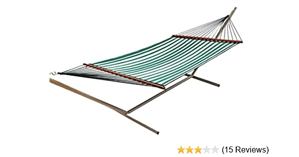 amazon    castaway q8205 large quilted hammock   green white  garden  u0026 outdoor amazon    castaway q8205 large quilted hammock   green white      rh   amazon
