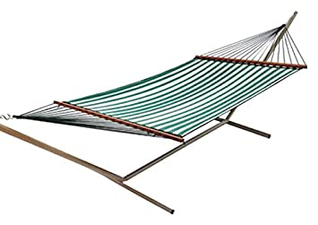 castaway q8205 large quilted hammock   green white amazon    castaway q8205 large quilted hammock   green white      rh   amazon