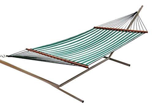 Hammock Paradise Quilted (Castaway Q8205 Large Quilted Hammock - green/white)