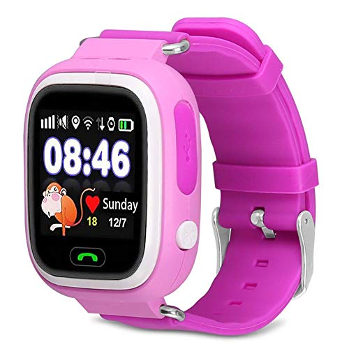 Smart Watch for Kids Q9 Children Anti-Lost Smart Watches Smartwatch LBS Tracker Watchs SOS Call for Android iOS Best Gift for Kids (Pink)
