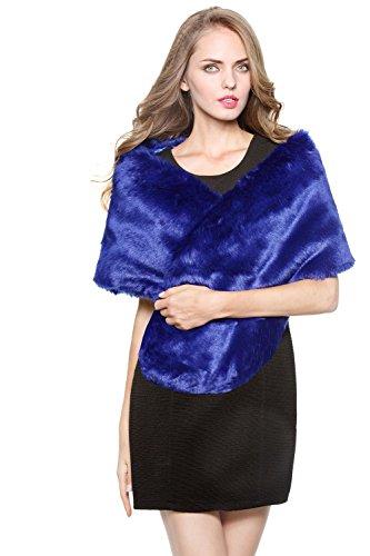 luxury Bridal Party Evening/Wedding Faux Fur Shawl Wrap Stole-S51(More Colors)