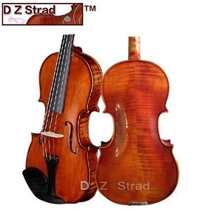 Song Violins with D Z Strad Violin Case, Bow, and rosin- Full Size 4/4 Stradivarius Factory Direct High-Grade Student Violin