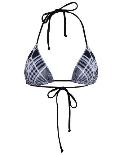 Hurley - Grid Lock Triangle Bikini Top Black S