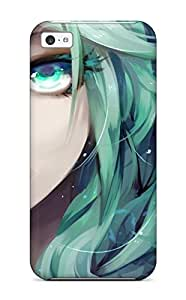 Forever Collectibles Close-up Vocaloid Hatsune Miku Lips Greencurlyfacesin Face Hard Snap-on for iphone 4/4s Case
