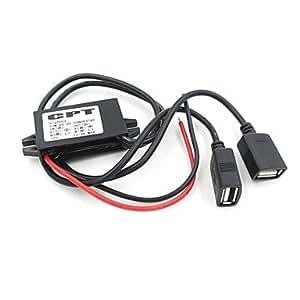 NBCVFUINJ® moto 12v a la línea 5v usb cargador de coche doble