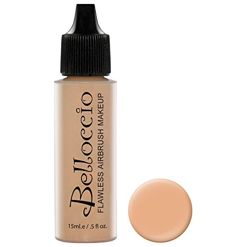 Belloccio's Professional Cosmetic Airbrush Makeup Foundation 1/2oz Bottle: Ivory- Light-medium Neutral Pink And Yellow ()