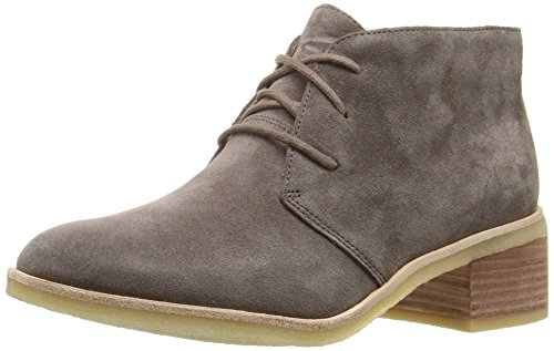 CLARKS Women's Phenia Carnaby Boot, Grey Suede, 9 M US