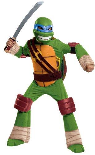 Teenage Mutant Ninja Turtles Deluxe Leonardo Costume, Small ()