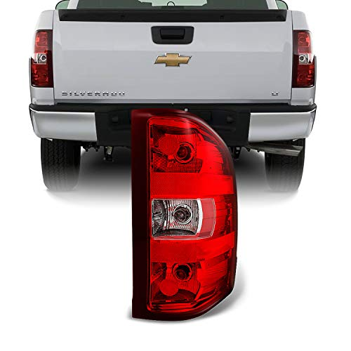 For Chevy Silverado Pickup Truck Red Clear Tail Light Tail Lamp Brake Lamp Passenger Right Replacement
