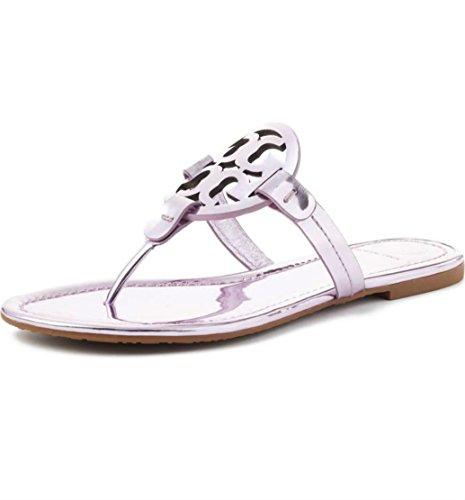 Tory Burch Miller Metallic Sandal Womens (7, Rosa)