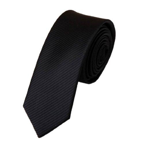 Silk Skinny Tie Black Slim Skinny for Men with Gift Box PS1001 148cm*7cm Black