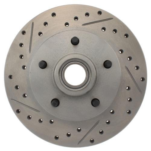 StopTech 227.62002R Select Sport Drilled and Slotted Brake Rotor; Front Right - Regal Plus Bite