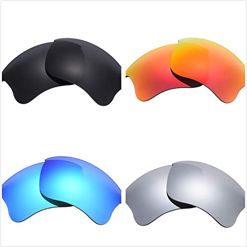 Set of 4 Polarized Replacement Lenses for Oakley Flak Jacket XLJ Sunglasses ()