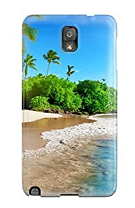Excellent Galaxy Note 3 Case Tpu Cover Back Skin Protector Beach