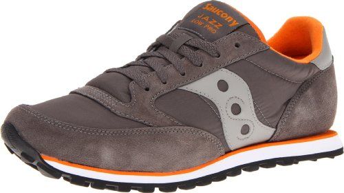 Saucony Originals Men's Jazz Low Pro Sneaker,Charcoal/Orange,9 M US
