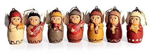 (NOVICA Decorative Hanging Angel Orchestra' (Set of 7) Ceramic Ornaments)