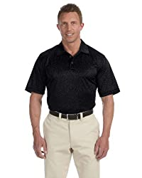 Adidas A163 Mens Climalite Heathered Polo - Black, Xl