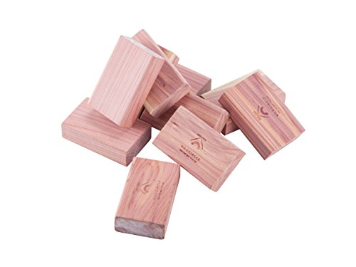 (kilocircle red Cedar Blocks with Light Fragrance for Closets Cloth Protector 20 Items Pack)