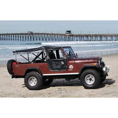 Jeep Cj5 1955 (Bestop 51405-01 Black Crush Tigertop Complete Replacement Soft Top with Clear Windows; Includes Doors for 1955-1975 Jeep CJ5 & 1951-1962 M38A1)