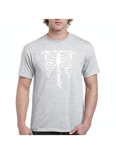 Mom`s Favorite Halloween Costume Skeleton Men's Short Sleeve T-Shirt (SSG) Sport Grey -
