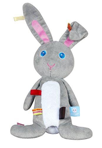 Snooze Baby Cuddling Rabbit Moochi (Grey) by BabyCentre