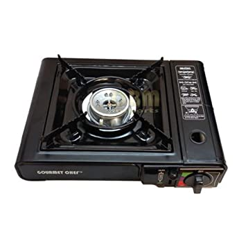 Exceptional Gourmet Chef Portable Single Butane Gas Stove Camping Patio Tabletop With  Case