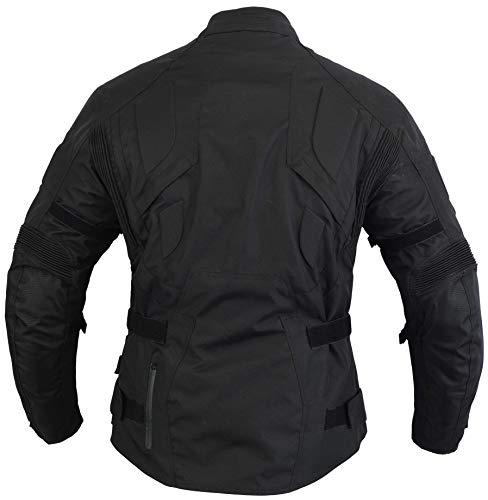 Chaqueta para moto INFINITY, impermeable, térmica, reforzada, con entradas de aire, color negro: Amazon.es: Coche y moto