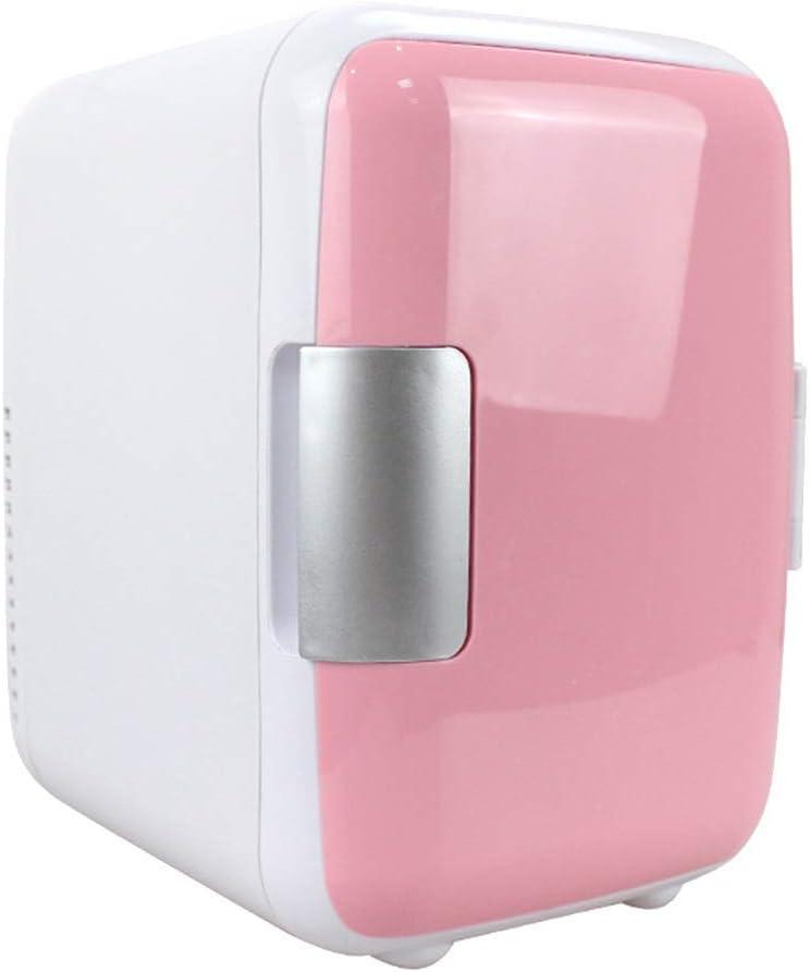 Mini frigorífico Reuvv de 4 litros, de doble uso, compacto y silencioso, compatible con CA y corriente continua, adecuado para el uso en coches, color azul