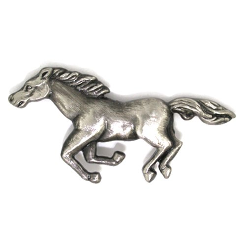 PinMart's Antique Silver Wild Horse Animal Lover Lapel Pin