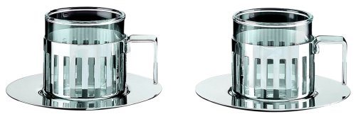 Aldo Rossi 4.2 oz. Mocha Cups with Saucer by Alessi