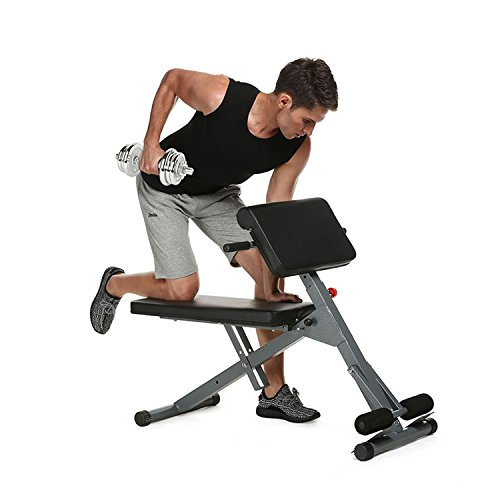 Anfan Roman Chair, Multi-Function Adjustable Preacher Curl Bench, Abdominal Extension Bench For Gym Home (US STOCK) by Anfan