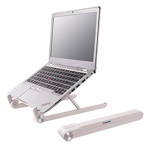 DOEWORKS Foldable Laptop Stand, Angle & Height Adjustable Desktop Stand, Compact & Portable Holder for Macbook, Notebook