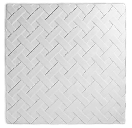 Perfect Woven Large Textured Fusing Tile - Fusible Glass Slumping (Glass Fusing Textured Tile Mold)