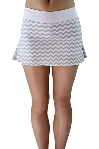 AdEdge Performance Woven Tennis Skirt Chevron Print