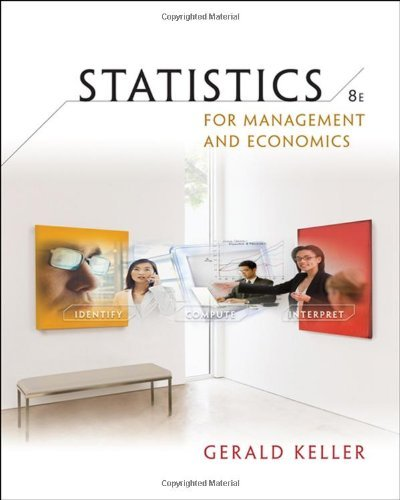 by Gerald Keller Statistics for Management and Economics (with CD-ROM)(text only)8th (Eighth) edition[Hardcover]2008