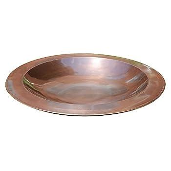 Image of Pet Supplies Achla Designs 24-in Round Classic Copper Birdbath Bowl