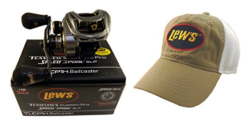 Pro Baitcast Reel (Bundle - Lew's Team Lew's Custom Pro 6.8:1 TLCP1H Baitcast Reel with Hat)