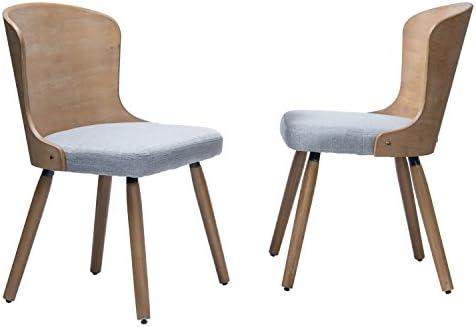 Supernova - Juego de 2 sillas tapizadas para Comedor de Cocina y ...