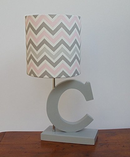 Pink/Grey/White Chevron Lamp Shade