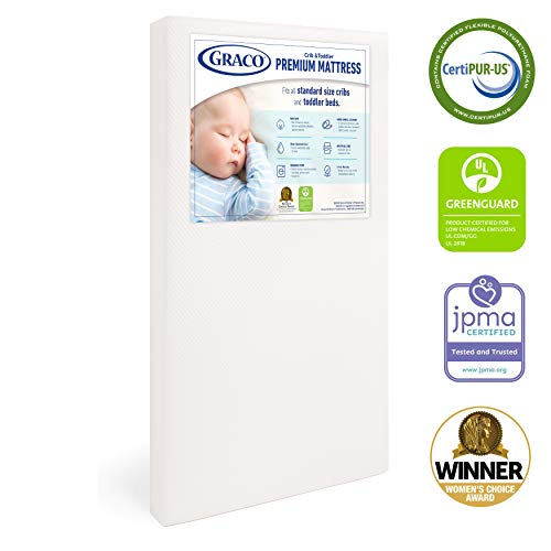 41S%2BoGLqkYL - Graco Premium Foam Crib And Toddler Mattress In A Box – GREENGUARD Gold Certified, Non-Toxic, Breathable, Removable Washable Water Resistant Outer Cover