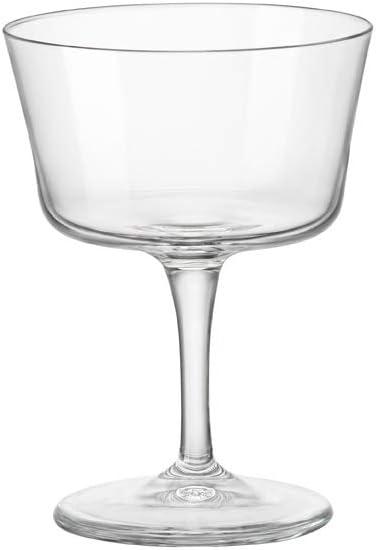 Bormioli Rocco Novecento Stemware Fizz Glass, Set of 4, 7.5 oz, Clear
