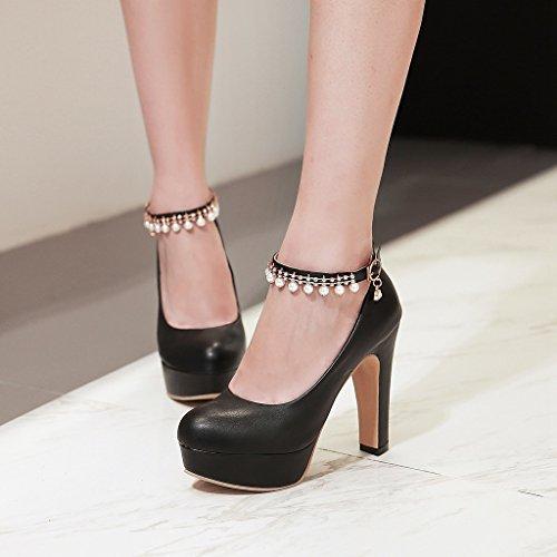 Cheville Escarpins Chaussures Eté Épais Mlm0 Femme Fermeture Kaki À Talons Club Sexy Soiree wIfAS