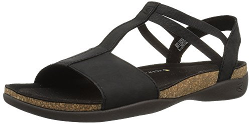 KEEN Women's Ana Cortez T Strap-W Flat Sandal, Black/Black, 11 M US by KEEN