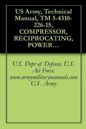 US Army, Technical Manual, TM 5-4310-226-15, COMPRESSOR, RECIPROCATING, POWER DRIVEN, AI WHEEL MOUNTED, GASOLINE ENGINE DRIVEN, 4 CFM, 3000 PSI, (STEWART ... military manauals, special ()