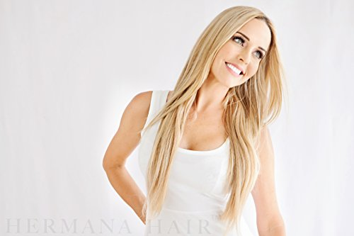 Blonde Celebrity Costumes Ideas (Hermana Hair Clip In Hair Extensions 100% Remy Human Hair Luxury Quality 20 inch Long Hair Extra Secure Clip Ins Add Instant Length & Volume to Your Hair (Brianna Natural Blonde 0018T22))
