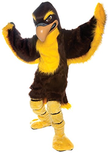 Fierce Falcon Mascot Costume Brown and Gold]()