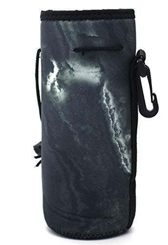 Water Bottle Carrier,Insulated Neoprene Water Gym Travel Bottle Holder Bag Protector Sleeve Case Pouch Cover 0.6L or 0.75L, Great for Stainless Steel and Plastic Bottles - Bottle Neoprene