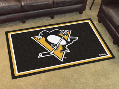 FANMATS NHL Pittsburgh Penguins Nylon Face 4X6 Plush Rug