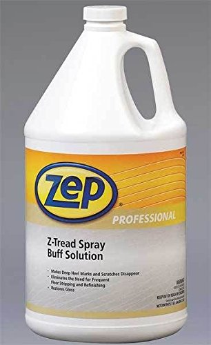 Zep Professional R04224 Z-Tread Spray Buff Solution, Mild Fragrance, Translucent/Milky-White (Case of 4 Gallons)
