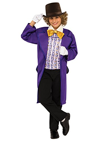 Boy Popular Costumes (Rubie's Costume Kids Willy Wonka & The Chocolate Factory Willy Wonka Value Costume,)